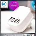 Mini Multiple Usb Charger Factory Price Portable 4 USB Port Smart Quick Charge Travel Charger
