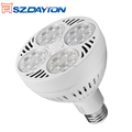 UL CE ROHS FCC Approved PAR30 Spotlight 35w 40w 2000k-6500k 220vltage AC90- 277V dimmable led par30 bulb light e27