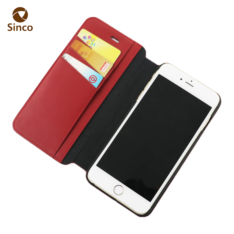 pudini ultrathin wallet flip leather case for iPhone6 plus china supplier