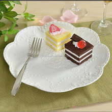 The Butterfly Ceramics Plate Hollow Relief Porcelain Plate Dish Afternoon Tea Tray Cake Fruit Plate for Hotel , Restaurant , Ca