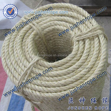 Super quality creative twisted manila ship mooring rope