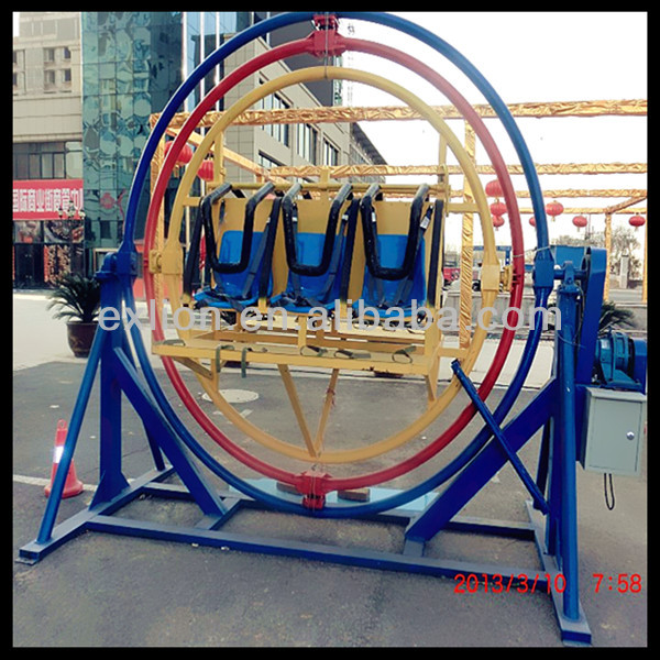 Fun game playground ride electric human gyroscope motor for sale