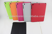 2013 new product pu leather case for ipad 4,stand plastic + leather protective case for apple ipad