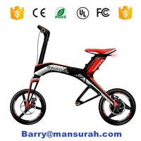 new prodcts 2016 EcoRider lithium battery powered brushless motor chainless folding electric mini cross bike