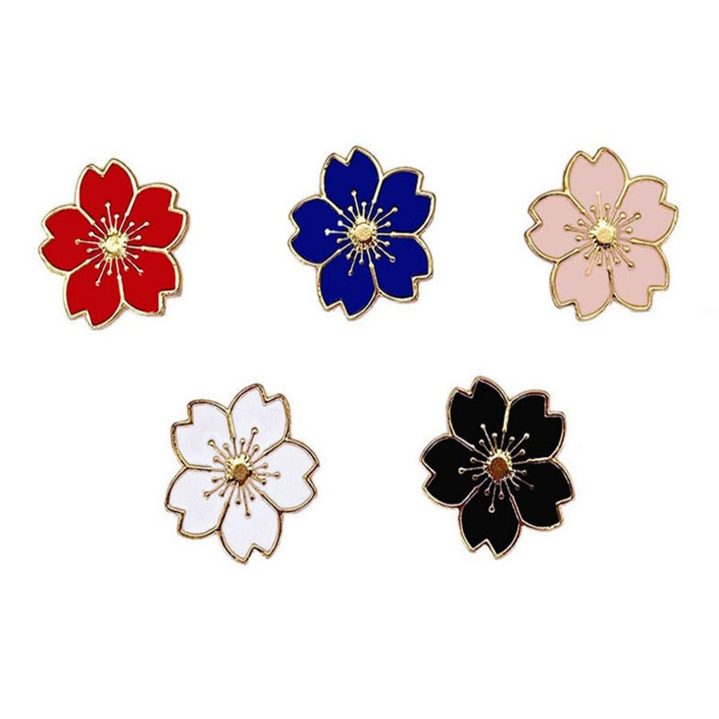 hot sale Collectable flower metal decorative colorful lapel pins