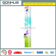 Plastic PP Infant Kids Height Ruler 2014 Hot Sale New Cartoon China Printing Funny Baby Growth Chart For Birthday Gift