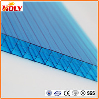 multiwall blue hard polycarbonate plastic sheet/solar panel / raw material