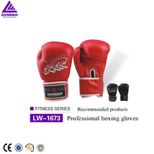 Free shipping factory wholesale Lenwave sporting gloves PU leather professional match boxing gloves
