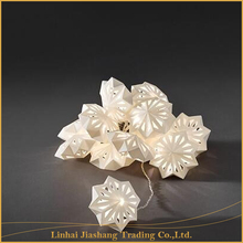 Warm White Christmas Decoration Different Shape Paper String Lights