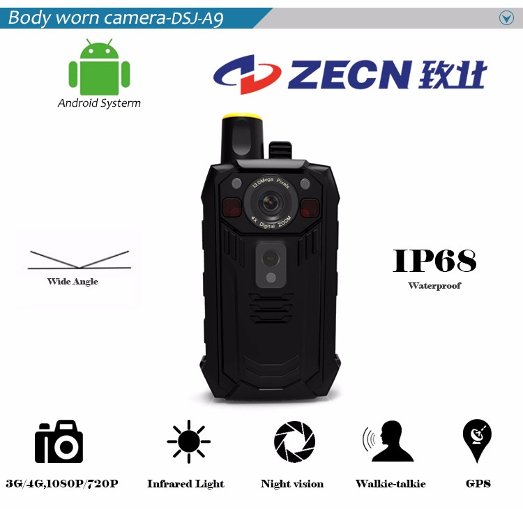 Hot 3G/4G camcorder 1080p full hd police camera systems with WIFI/Bluetooth function