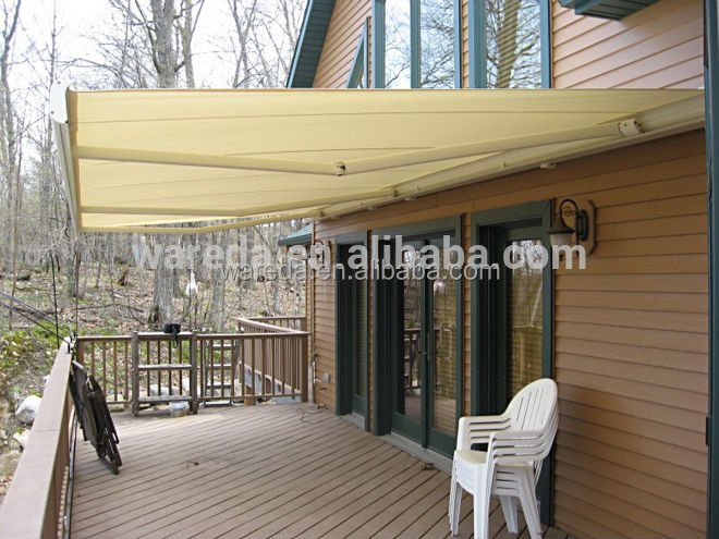 Made in china high UV protection decorative automatic folding arm awning