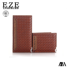 Crocodile pu leather wallet for men