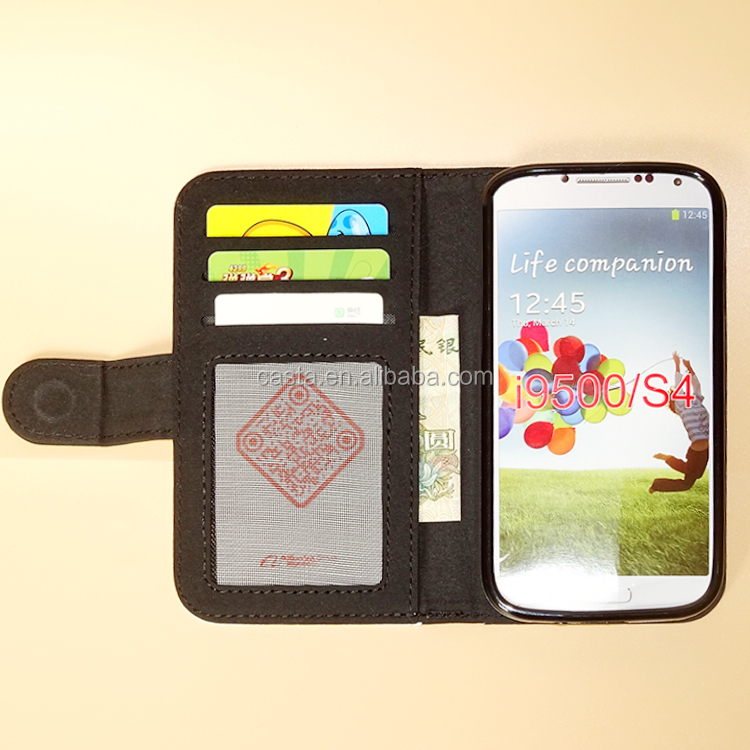 New Personalized Blank Sublimation Microfiber And TPU Wallet Phone Cases for Samsung Galaxy i9500