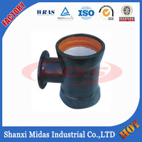 ISO2531 PN10 PN16 PN25 Ductile Iron Double Socket Tee Pipe Fitting with Flange Branch