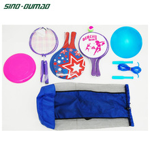 Customized Colors Wood PE Rackets Beach Game Set With Ball