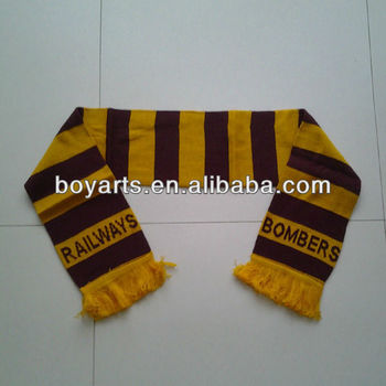 Custom promotional football scarf