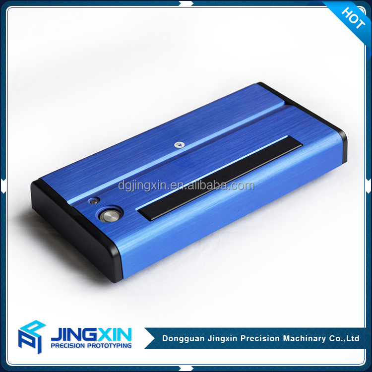 Jingxin High Quality cnc machining Anodized Aluminum Power Bank Empty Shell