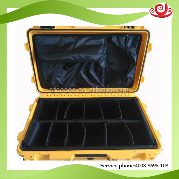 Hard plastic pp military standard shockproof large plastic storage case