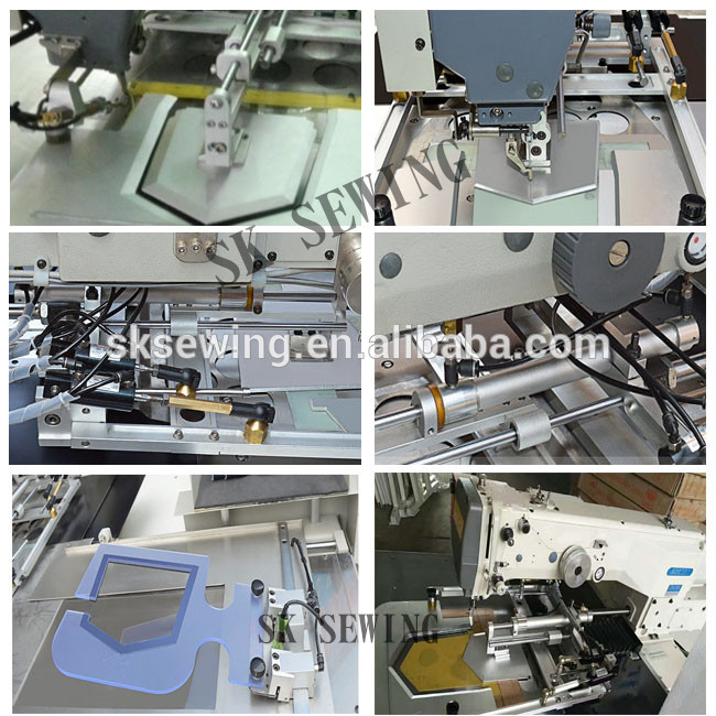 Auto programmable pocket attaching sewing machine for shirt pocket