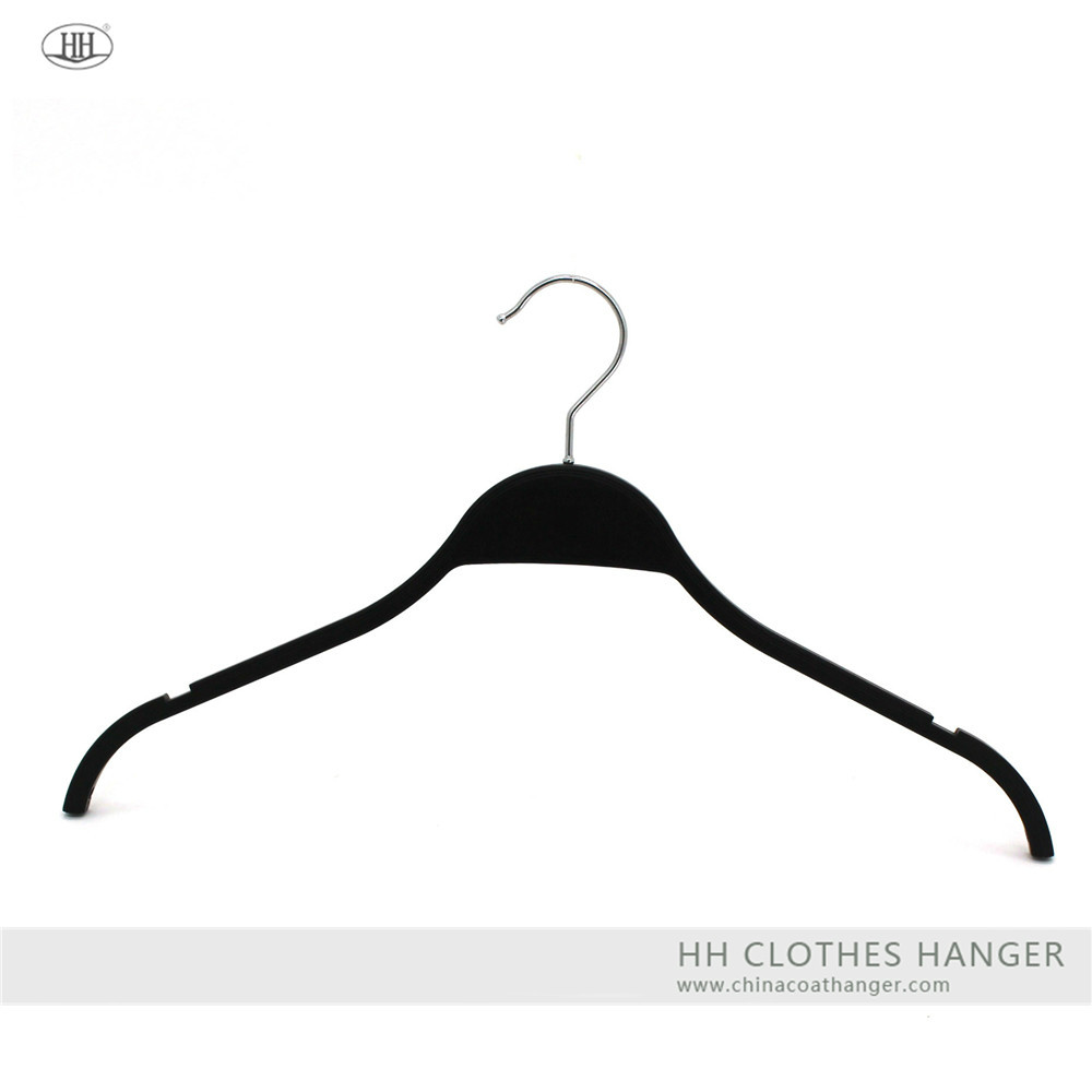 The zara style laminated like solid plastic clothes hanger can add metal clips be suit hanger
