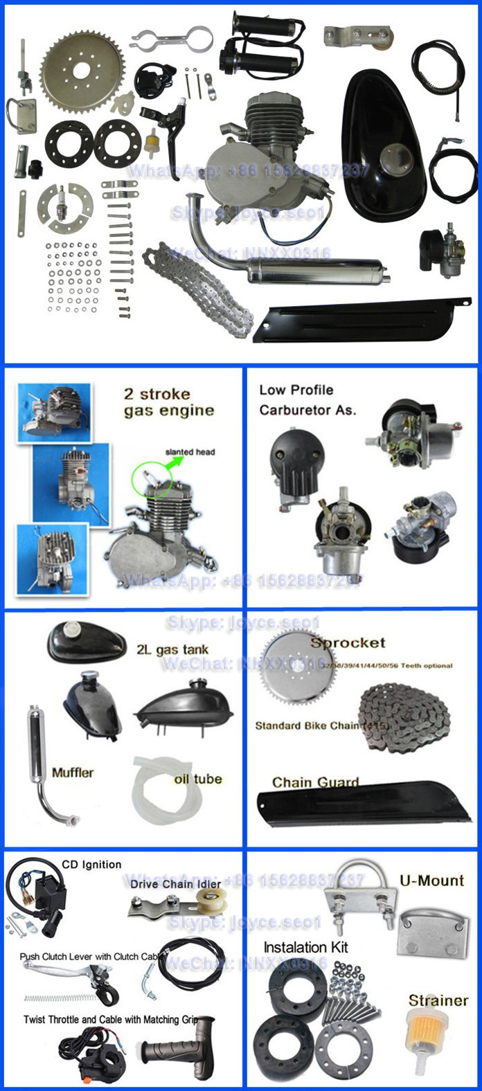 Good service 48cc 49cc 50cc 60cc 66cc 80cc moped 2 stroke bicycle motor