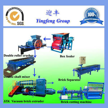Clay brick production line with dryer and kiln