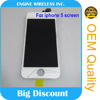 100% Warranty lcd display for iphone 5 screen replacement