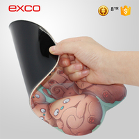 EXCO 3d sexy girl breasts soft touch mouse pad 3D lenticular printing moAuse pad with professional designer