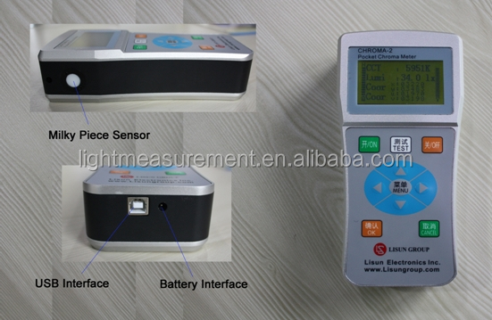 LED Color Analyzer-CHROMA-2 Pocket Tester can Test Color Temperature, CRI and Coordinate Chromaticity of LED lighting products