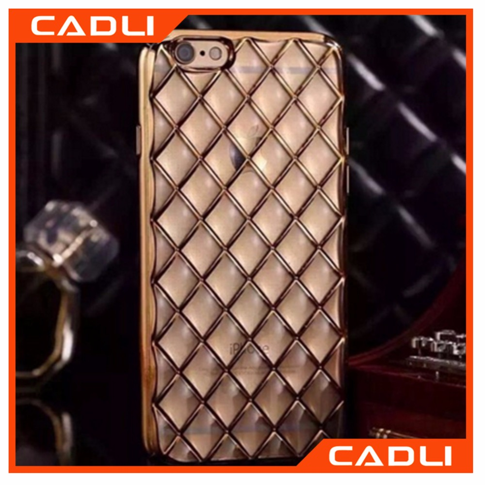 2016 fashion phone case wholesale electroplate cover TPU silicon mobile phone case for iphone 6s 5s 6 plus