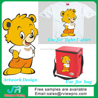 Custom plastisol screen printing transfer with funny cartoon pictures