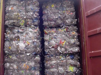 Baled bottles for recycling