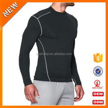 Wholesale Tight Fitted Gym Plain Long Sleeve T Shirt Custom Mens Long T Shirt For Fitness Wear
