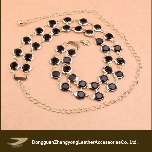 chain belt with black bead, chain belts and jewelry