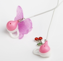 High Quality Cute Cherry Pink earphones headphone For Girls