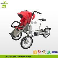 mother and baby bike stroller,fahrrad kinderwagen,carry baby on th front of the tricycle