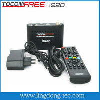 2014 Original Tocomfree i928 receptor hd satelite with cheap digital tv antenna