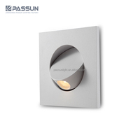 modern interior recessed mounted led wall light 3w bedside flexible reading lamp