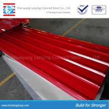 Color coated corrugated roofing sheets