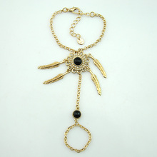 JOJO FASHION gold plated black crystal anklet chain jewelry