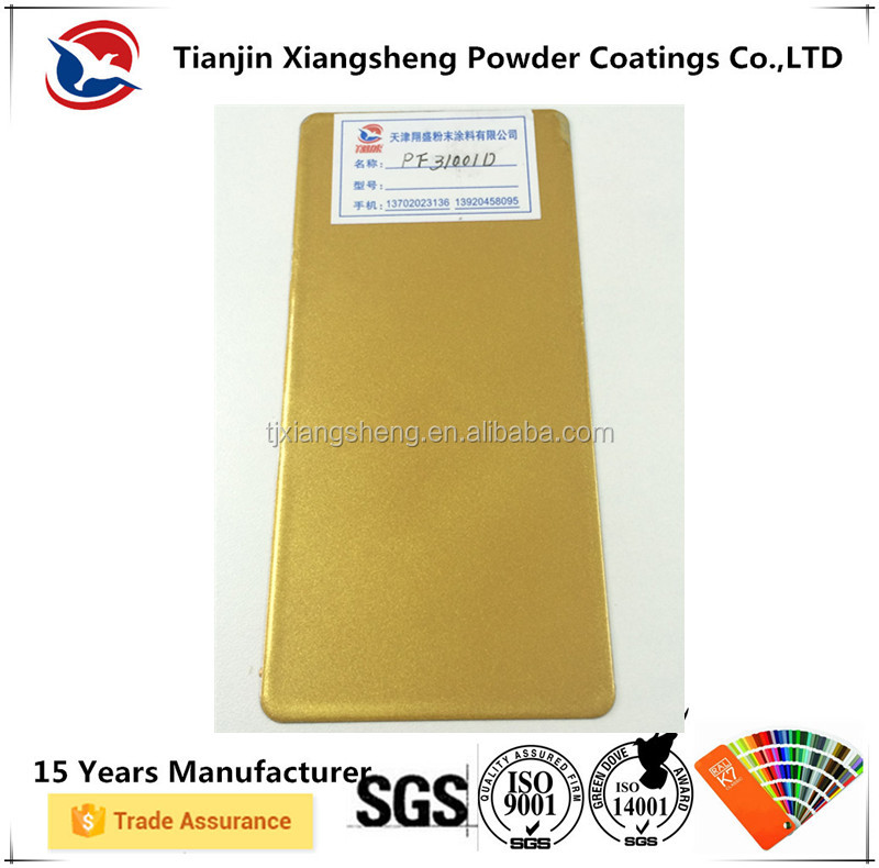 electrostatic spray interior/exterior metallic gold color powder coating paint