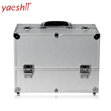 Yaeshii 2019 new wholesale profession aluminum beauty case cosmetics makeup travel train case