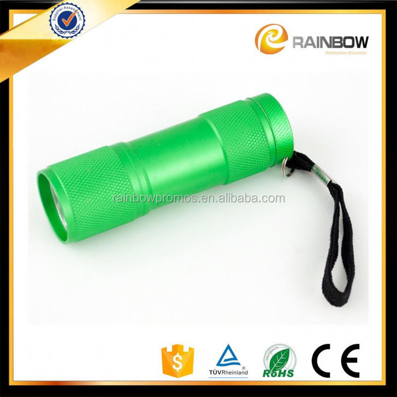 Hot Cheap aluminium green led flashlight for promotion gift
