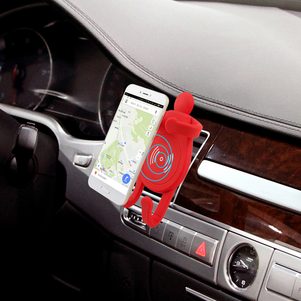 2018 Cartoon Multifuncti Car Wireless Magnetic Charger Wireless Phone Charger Car Holder Wireless Car Charger For SmartPhone 5W