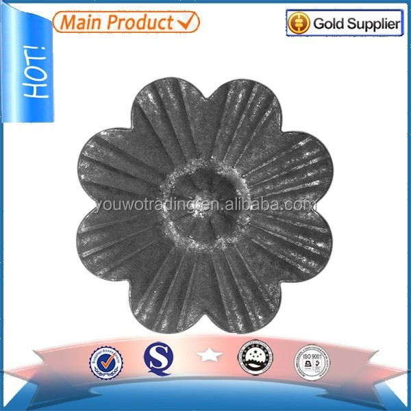 custom different style ornamental wrought iron stamping flowers and leaves