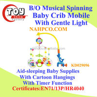 B/O Musical Spinning Baby Crib Mobile With Gentle Light