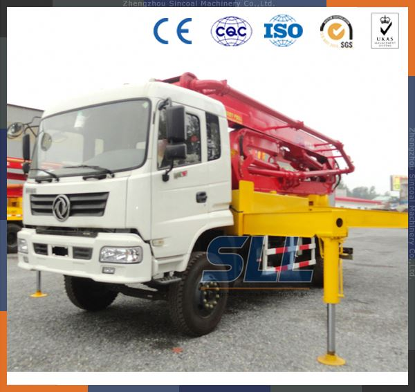China used concrete pump truck/concrete pouring equipment