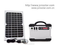 JCN newest F101 portable 10w/12v home solar system for home lighting