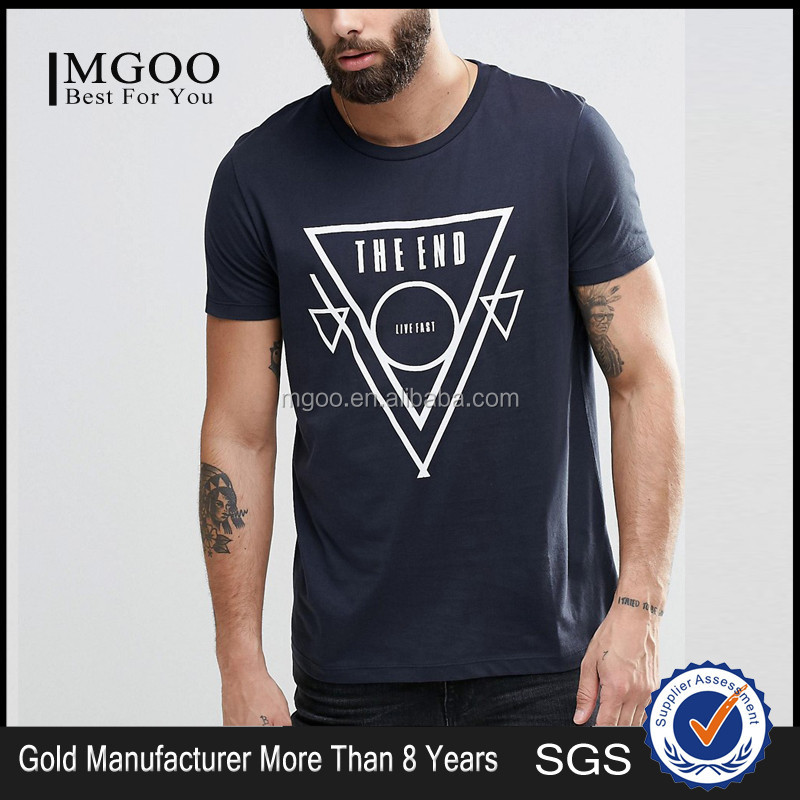 MGOO Manufacturer Custom Orders 50 Cotton 50 Polyester T shirt With Front Print