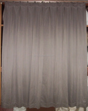 Plain curtain design for hall in grey color 100%polyester